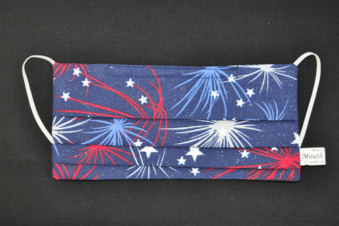Red White Blue Stars Fireworks Mask