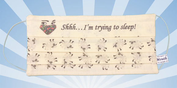 Shh I Am Sleeping Sheep White Surgical Mask