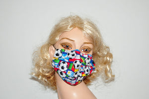 Soccer Balls Flags Mask Mask