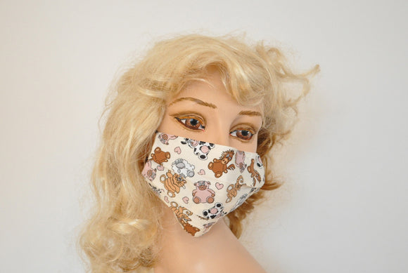 Cute Surgical face mask - Stuffed Animals, soft face mask, Child's hospital face mask