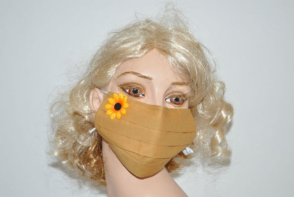 Yellow Mask with Sunflower Application