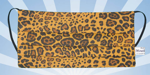 Tiger Skin Black Brown Patches Mask