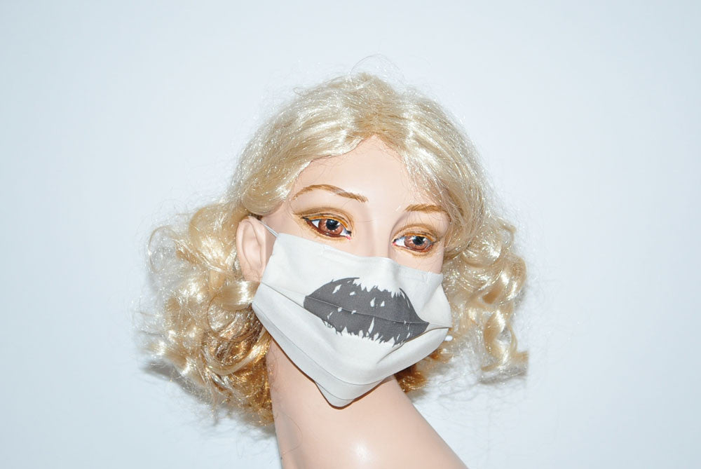 Toothbrush Style Mustache for Movember Beige Mask