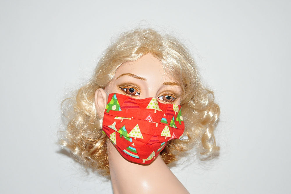 Triangle Christmas Trees Red Mask