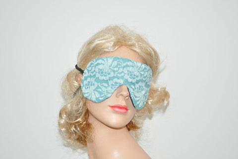 Teal Floral Lace Teal Sleeping Eye Mask