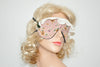 White Lace Burgundy Sleeping Eye Mask