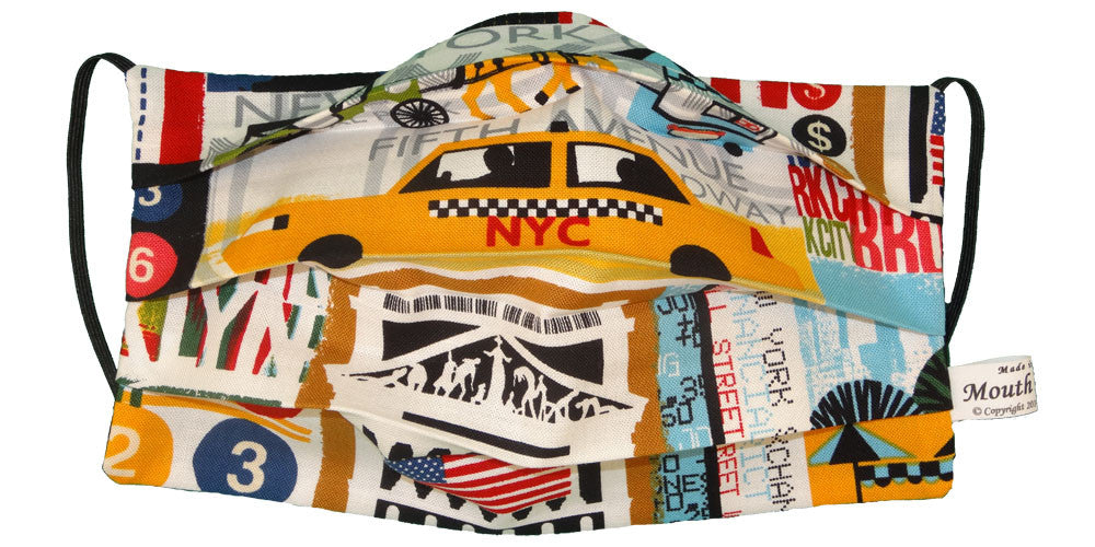 Yellow Cab New York City Mask - Open
