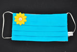 Yellow Flower Turquoise Mask