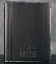 Load image into Gallery viewer, Zippered Padfolio - Black PU Leather, FTL Logo Debossed