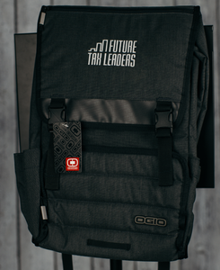 OGIO Apex Rucksack -  Heather Gray, Silver FTL Logo Embroidered