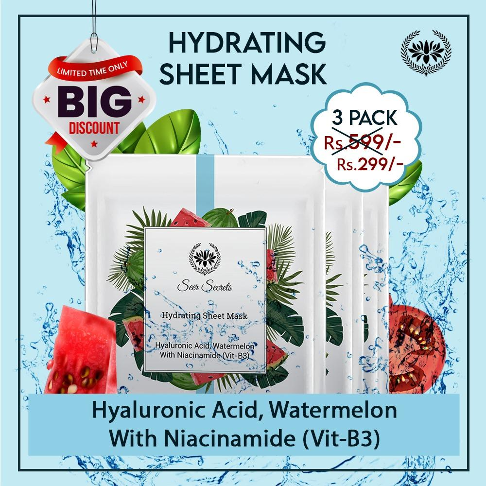 HYDRATING SHEET MASK (PACK OF 3)