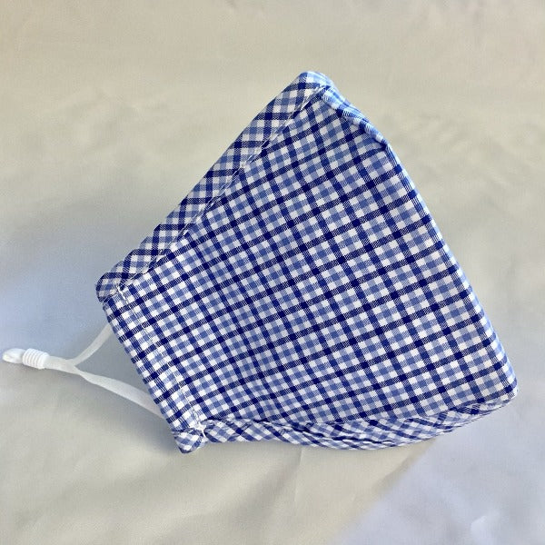 Adult Cotton Non-Medical Face Mask-Blue Check