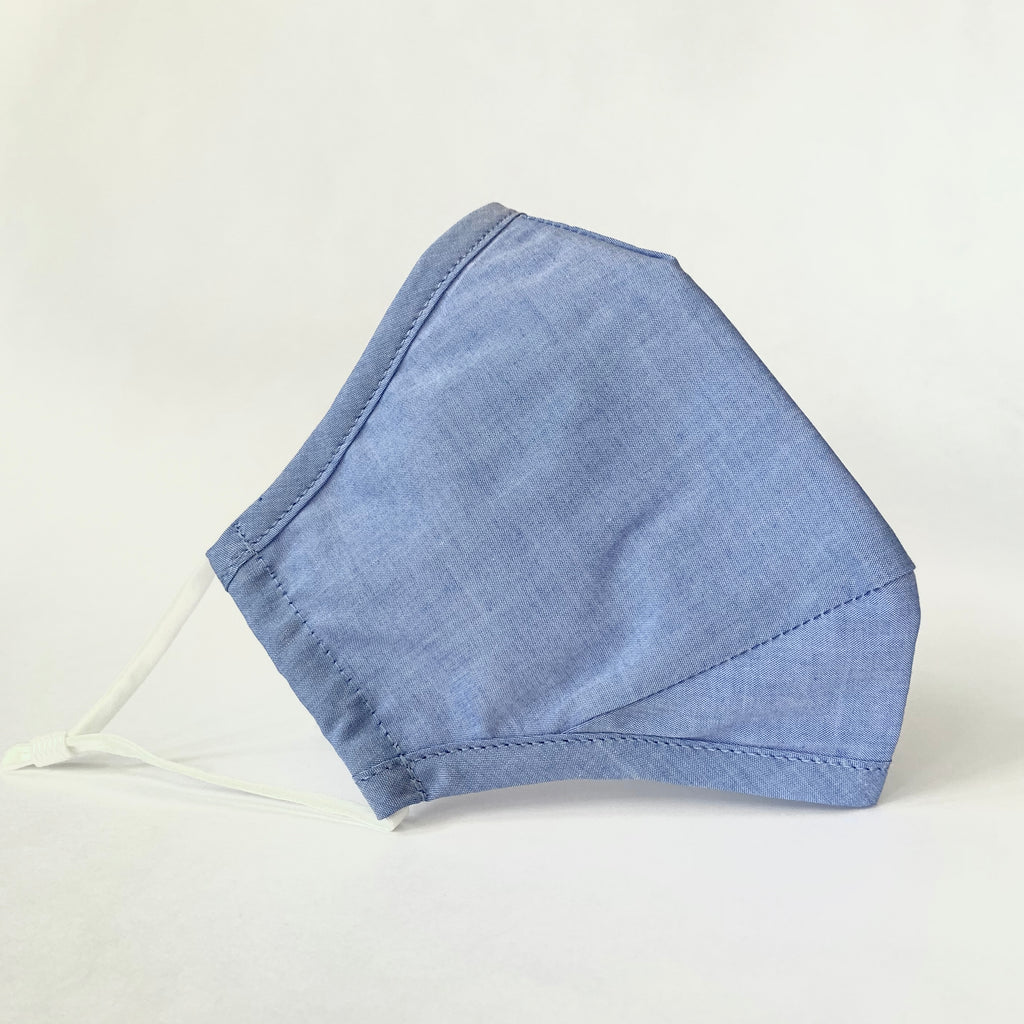 Adult Cotton Face Mask-Blue