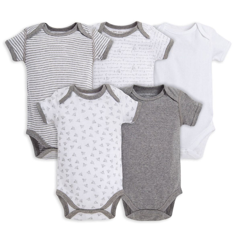 Short Sleeve Baby Bodysuits-Set of 5