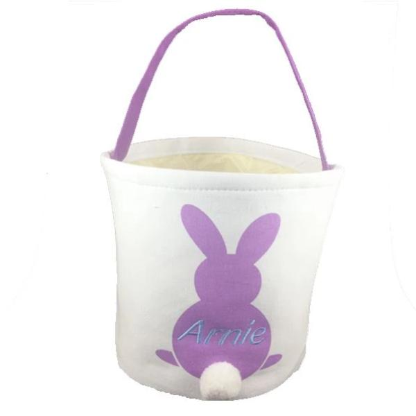 Easter Bunny Tail Bucket Tote