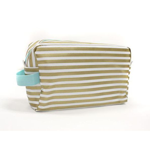Glamour Stripe Cosmetic Bag