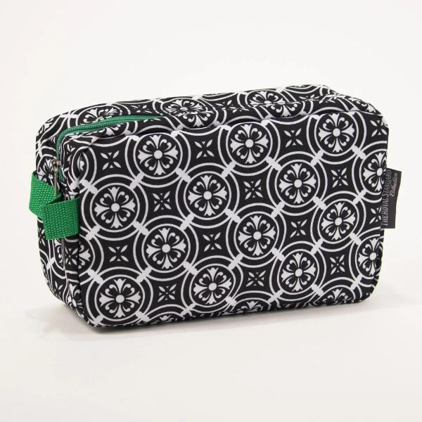 Mosaic Black Cosmetic Bag