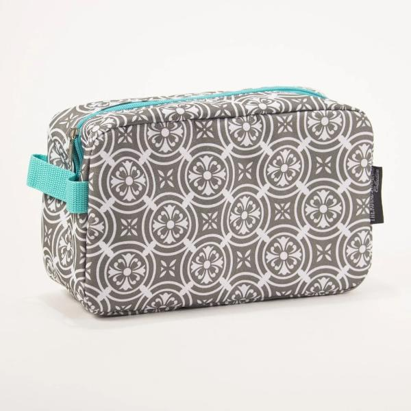 Mosaic Gray Cosmetic Bag