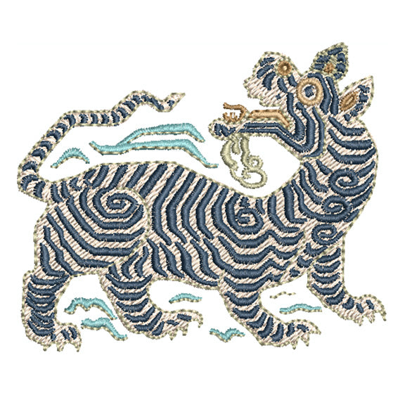 Foo Dog Machine Embroidery Design
