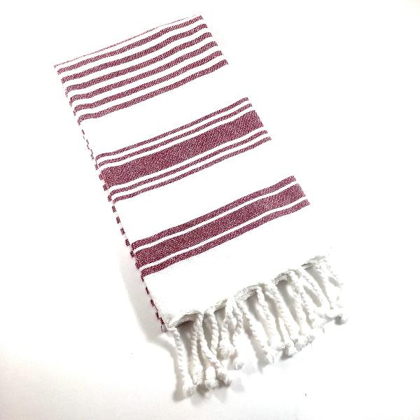 Multi Stripe Fringe Towel