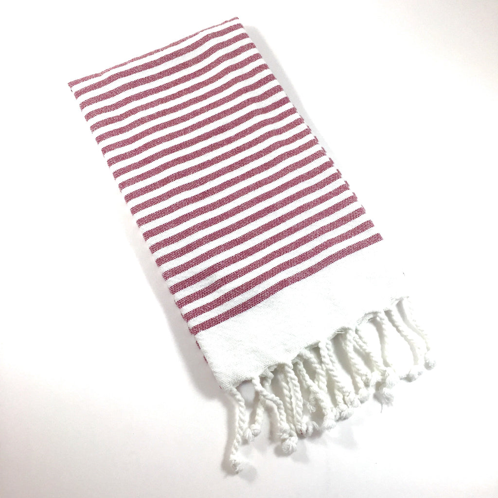 Small Stripe Fringe Towel