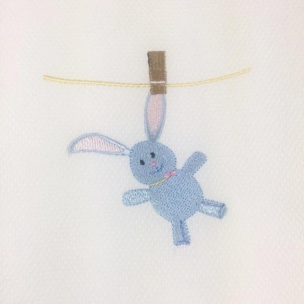 Laundry Bunny Hemstitch Huck Guest Towel