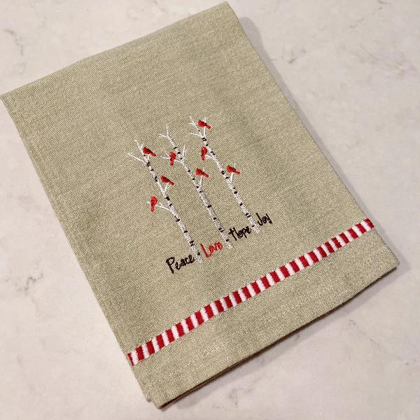 Cardinal Natural Dobby Trim Kitchen Towel