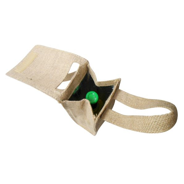 Insulated Wine Tote - Burlap