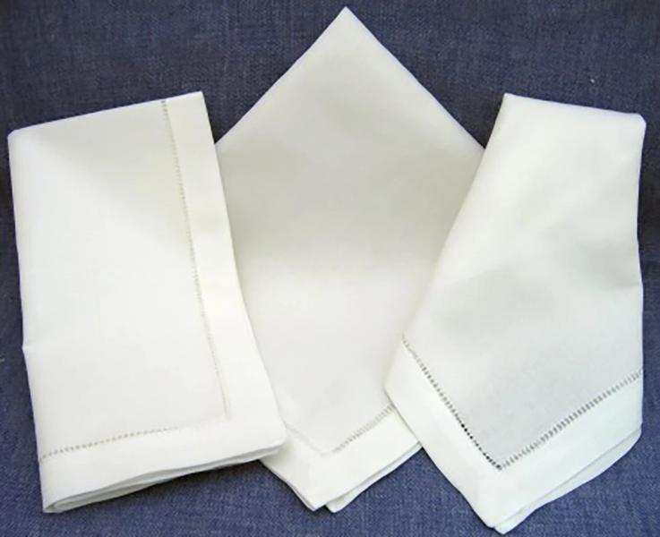 Linen Hemstitch Dinner Napkin
