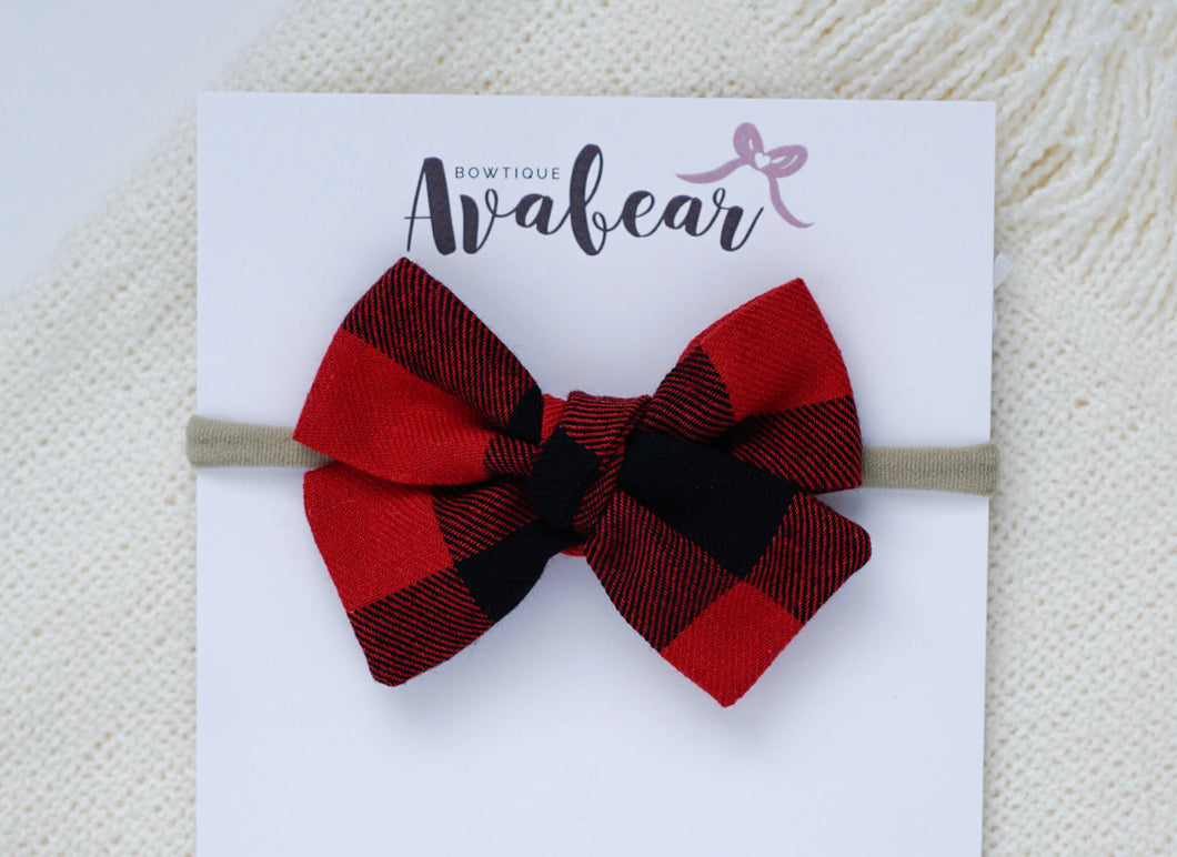 Red Buffalo Plaid // midi bow