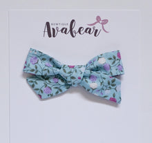 Load image into Gallery viewer, Blue Rosette // schoolgirl bow
