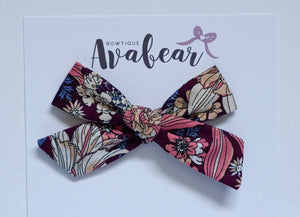 Magenta Bloom // schoolgirl bow