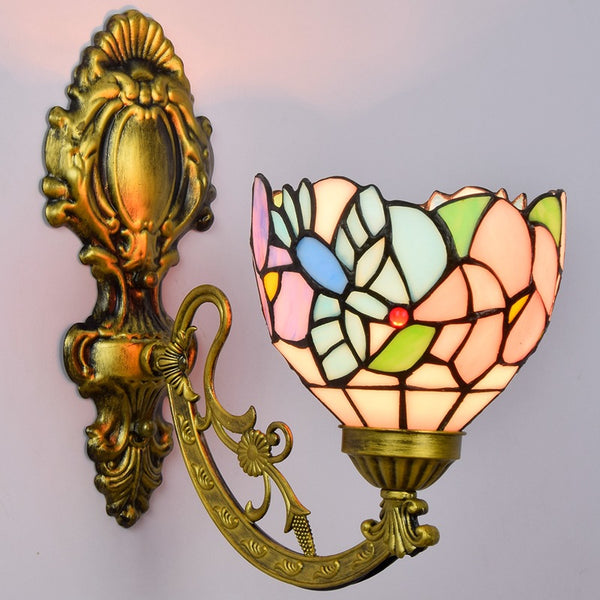 stained glass sconce light