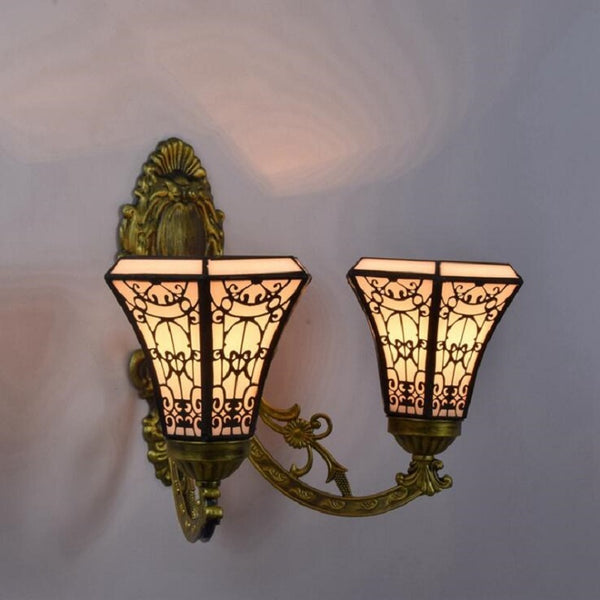 stained glass wall lamp
