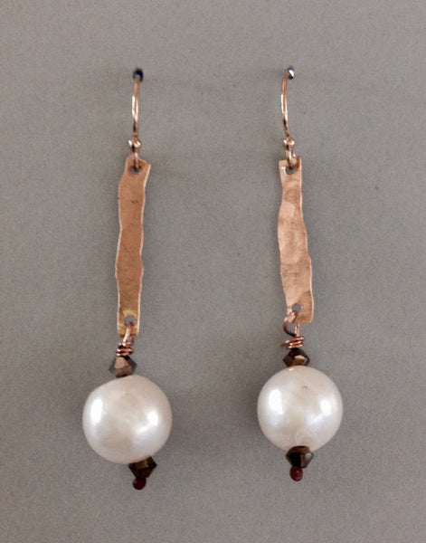 White Pearl Drop Earring