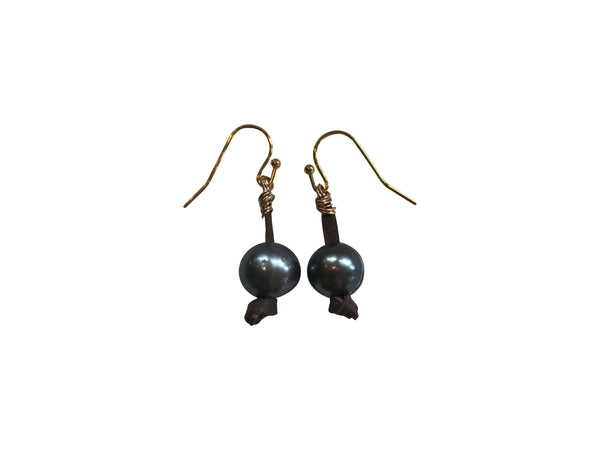 Short Peacock Pearl Earring