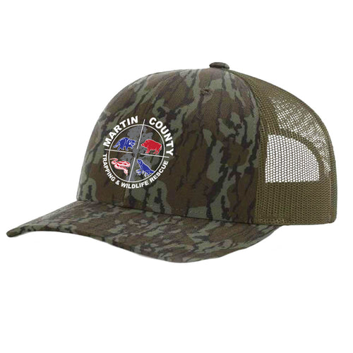 Martin County Trucker Hat | Bottomlands Camo