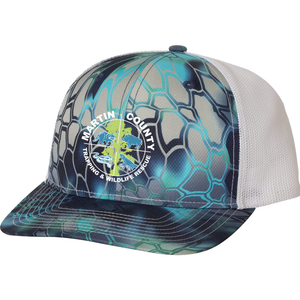 Martin County Trucker Hat | Kryptek Pontus/white