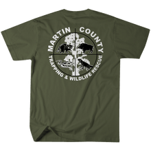 Load image into Gallery viewer, Martin County Trapping and Wildlife - Army Green Tee