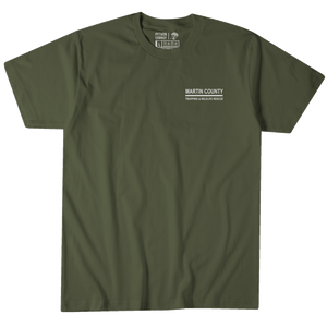 Martin County Trapping and Wildlife - Army Green Tee