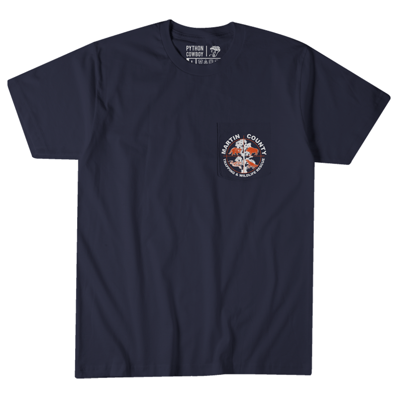 Martin County Trapping and Wildlife - Navy Pocket Tee