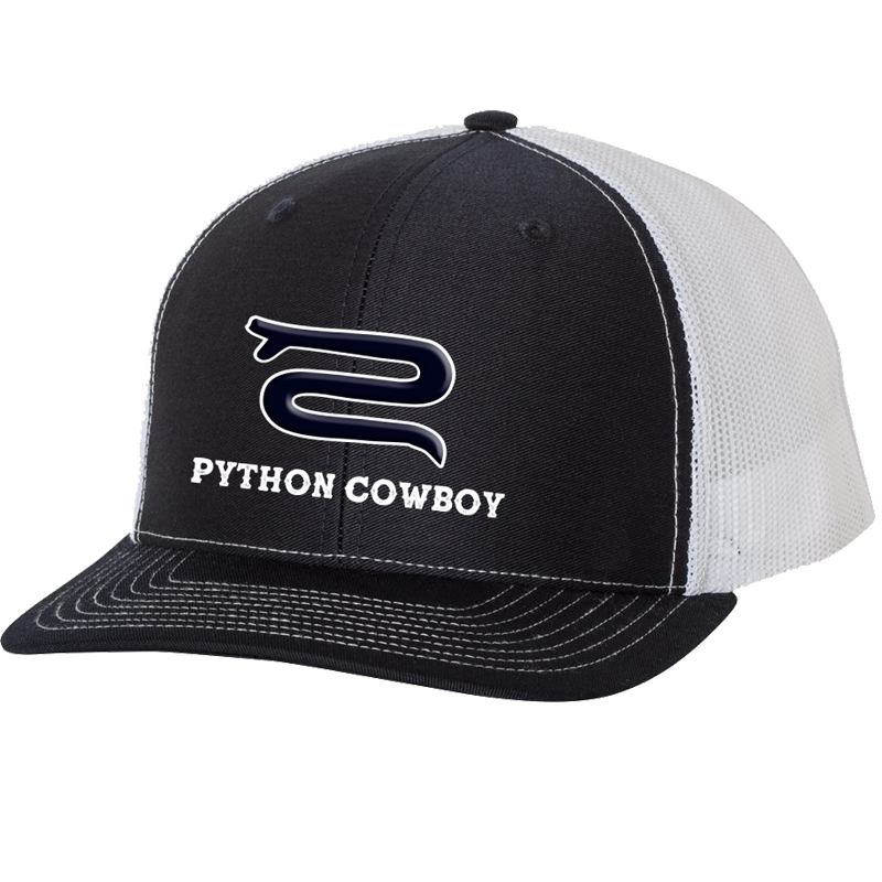 Python Cowboy - Navy/white trucker style snap back