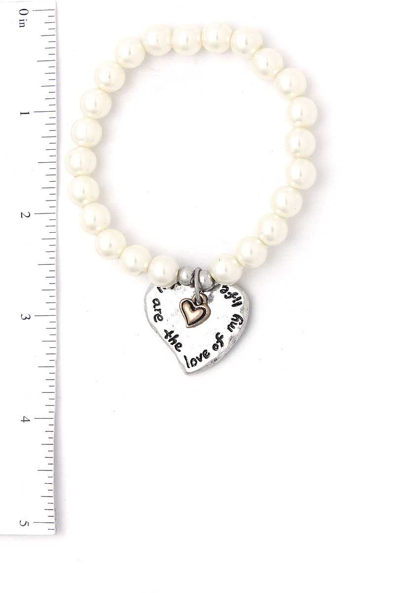 You Are The Love Of My Life Heart Beaded Bracelet - SHE REAL 100%