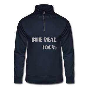 Hanes Quarter Zip Pullover - SHE REAL 100%