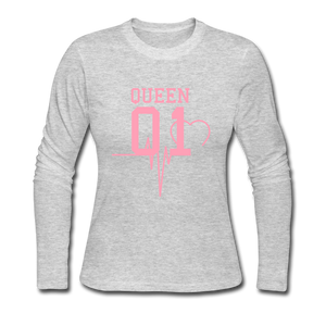 Women's Long Sleeve Jersey T-Shirt - SHE REAL 100%