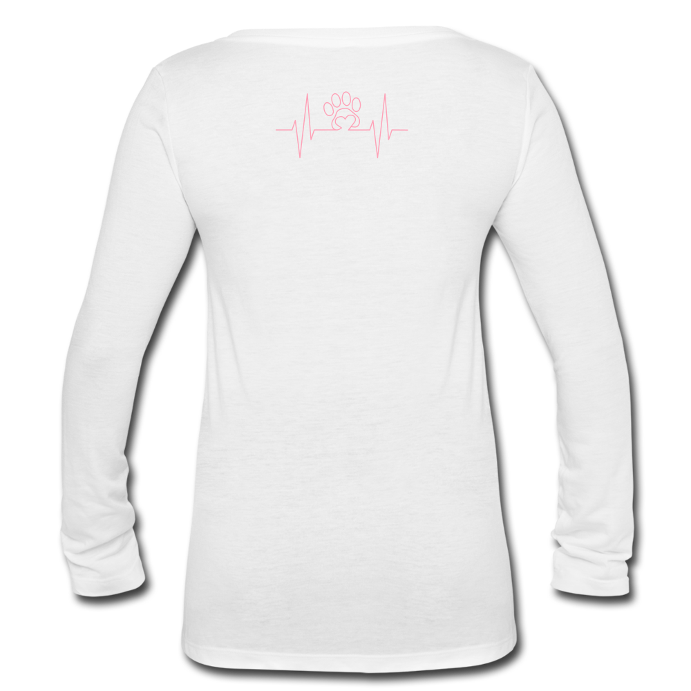 Women's Long Sleeve  V-Neck Flowy Tee - SHE REAL 100%