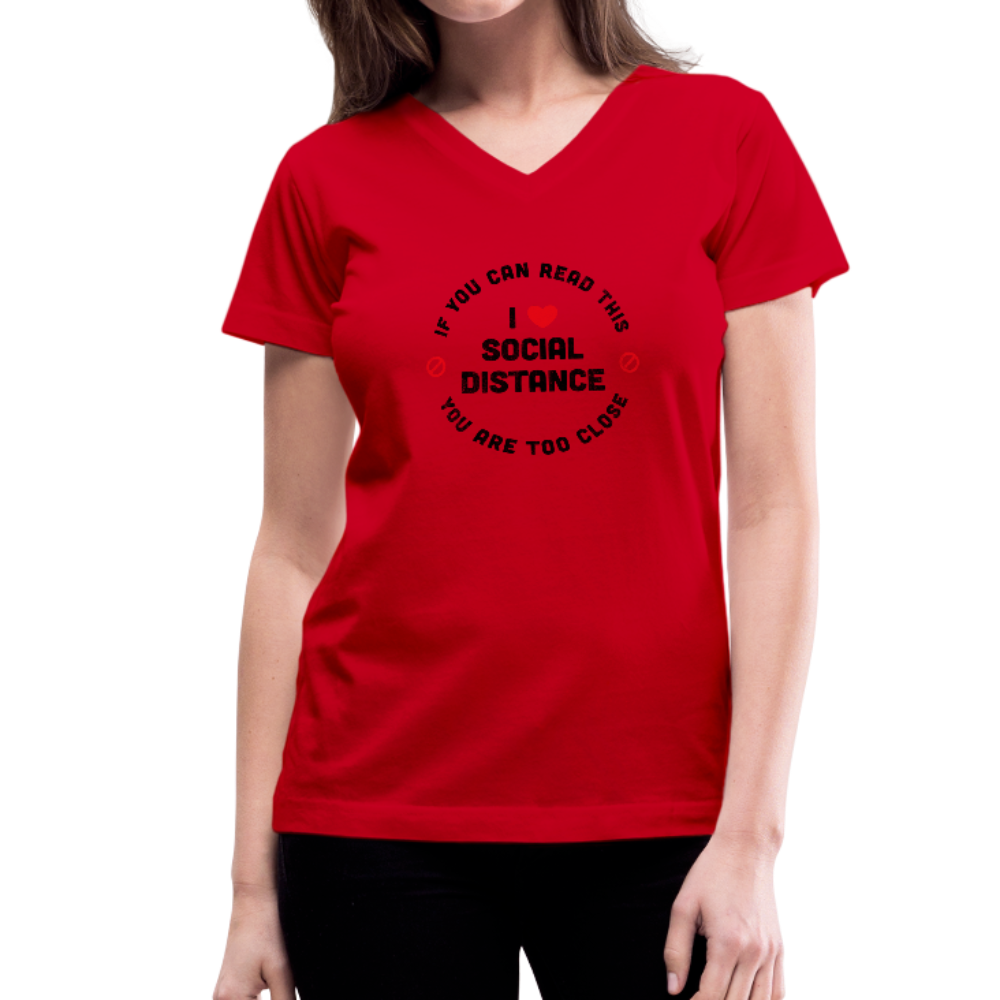 Women's V-Neck T-Shirt - SHE REAL 100%