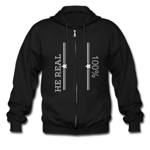 Men's Zip Hoodie - SHE REAL 100%