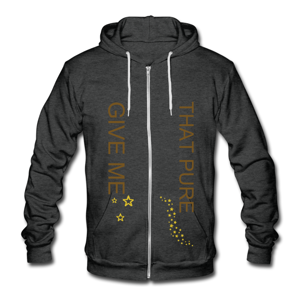 Unisex Fleece Zip Hoodie - SHE REAL 100%
