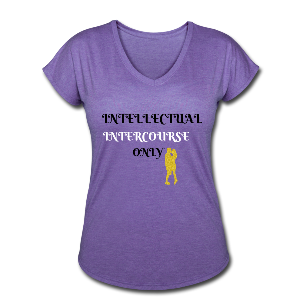 Women's Tri-Blend V-Neck T-Shirt - SHE REAL 100%